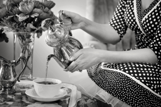Tea-party-tea-black-and-white-teapot